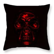 Skull In Red Throw Pillow
