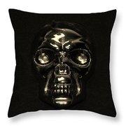 Skull In Sepia Throw Pillow