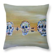 Skull Mathematics Throw Pillow