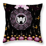 Skull Night In Peace Throw Pillow