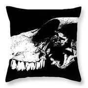 Skull Of Cow Throw Pillow