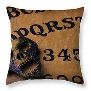 Skull Planchette Throw Pillow