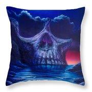 Skull Point Throw Pillow