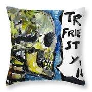 Skull Quoting Oscar Wilde.2 Throw Pillow
