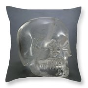 Skull Rock Crystal Throw Pillow