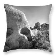 Skull Rock Throw Pillow
