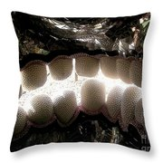 Skull Teeth Throw Pillow