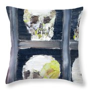 Skulls In The Crypt Throw Pillow