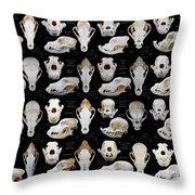 Skulls Of Various Dog Breeds Throw Pillow
