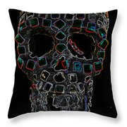 Skully Alas We Hardly Knew Ye Throw Pillow