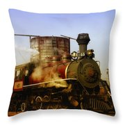 Skunk Train Throw Pillow