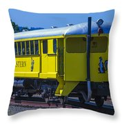 Skunk Train Passenger Car Throw Pillow