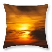 Sky Abstract Throw Pillow