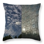 Sky And Building Throw Pillow by Gary Eason