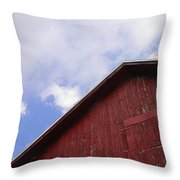 Sky And Barn Throw Pillow