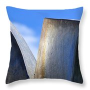 Sky And Metal In The Garden Throw Pillow