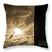 Sky And Wall Throw Pillow