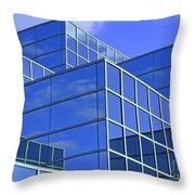Sky Blue Mirror Throw Pillow