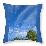 Sky Blue Summer Art Throw Pillow