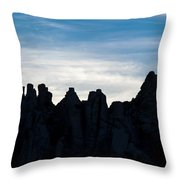 Sky Castles - The Mojave Throw Pillow