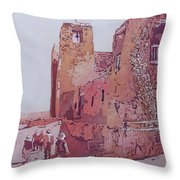 Sky City Mission Throw Pillow