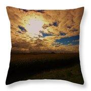 Farmland Sky Throw Pillow