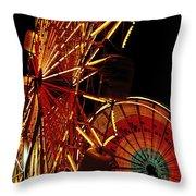 Sky Diver - Carnival Throw Pillow