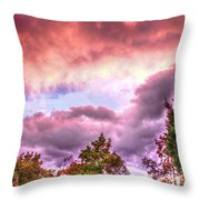 Sky Fire 2 Throw Pillow