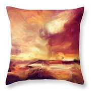 Sky Fire Abstract Realism Throw Pillow
