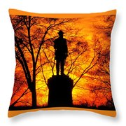 Sky Fire - Flames Of Battle 50th Pennsylvania Volunteer Infantry-a1 Sunset Antietam Throw Pillow