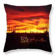 Sky Fire Throw Pillow