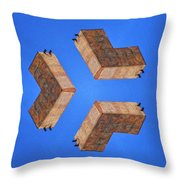 Sky Fortress Progression 2 Throw Pillow