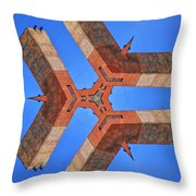 Sky Fortress Progression 8 Throw Pillow