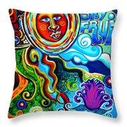 Sky Fruit Throw Pillow