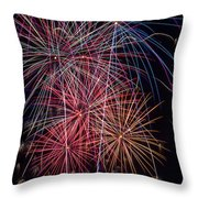 Sky Full Of Fireworks Throw Pillow