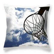 Sky Hoop Throw Pillow