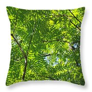 Sky Laced Throw Pillow