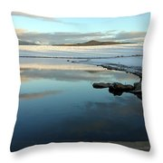 Sky Lake Throw Pillow