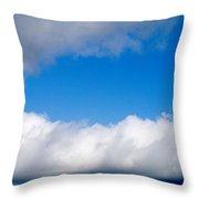 Sky Layers Throw Pillow