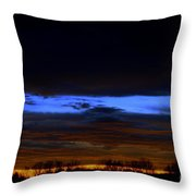 Sky Layers Throw Pillow