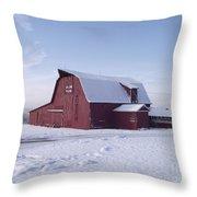 Sky Line Farm Throw Pillow