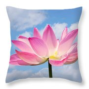 Sky Lotus Throw Pillow