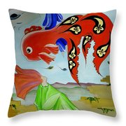 Sky Mermaid Throw Pillow
