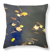 Sky Of Leaves Throw Pillow