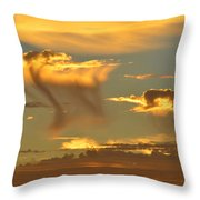Sky Of Snakes Throw Pillow