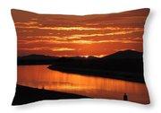 Sky On Fire Again Throw Pillow
