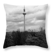 Sky Over Berlin Throw Pillow