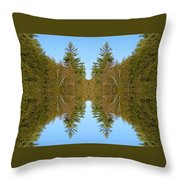 Sky Pines II Throw Pillow