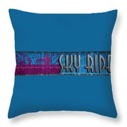 Sky Ride Panorama Throw Pillow
