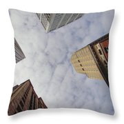 Sky Scrapers Throw Pillow